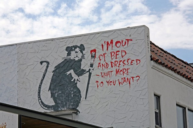 Banksy-Im-Out-Of-Bed-And-Dressed-What-More-Do-You-Want-in-Los-Angeles