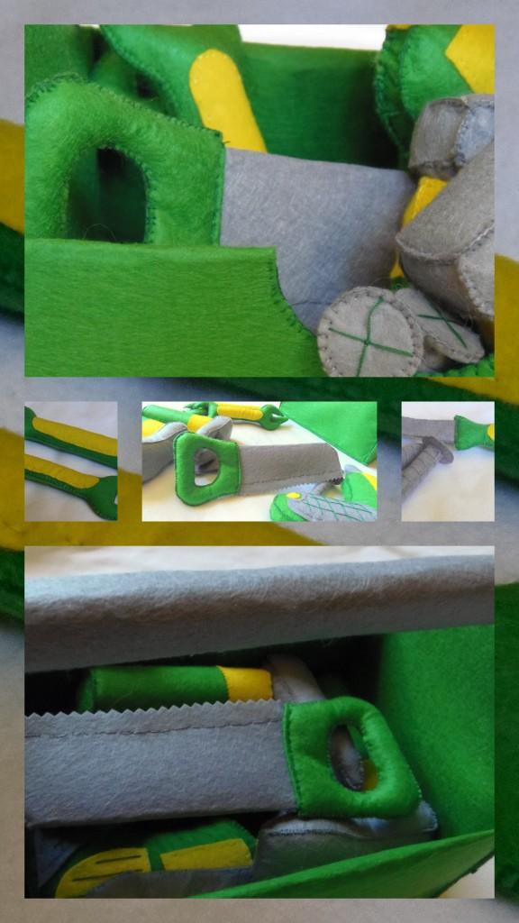 zielone narzędzia z filcu