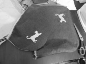 tutoria torebka haftowane koty na klapie i froncie