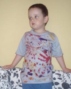 t-shirt 'krwawa zbrodnia'